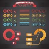 De inzameling van de grafiekmalplaatjes van de cirkel Stock Afbeeldingen