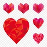De inzameling van de hartvorm Royalty-vrije Stock Afbeelding