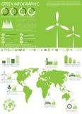 De inzameling van de infografiek van de ecologie Royalty-vrije Stock Afbeeldingen