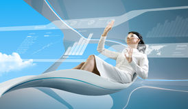 De inzameling van de interface - Werkende interface Stock Fotografie
