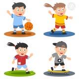 De Inzameling van de Jonge geitjes van de sport [1] Stock Foto