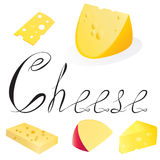 De inzameling van de kaas stock foto