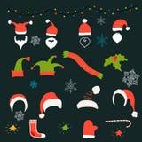 De inzameling van de Kerstmisdecoratie, Royalty-vrije Stock Afbeeldingen