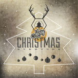 De inzameling van de Kerstmisdecoratie voor prentbriefkaaren en ander Kerstmisontwerp. Royalty-vrije Stock Fotografie