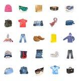 De inzameling van de kleding royalty-vrije stock afbeeldingen