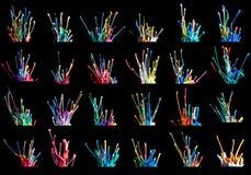 De inzameling van de kleurenexplosie Stock Fotografie