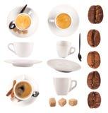 De inzameling van de koffie royalty-vrije stock afbeelding