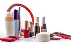 De Inzameling van de make-up Stock Afbeelding