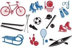 De Inzameling van de Pictogrammen van de sport Stock Foto