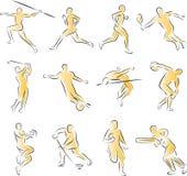 De Inzameling van de Pictogrammen van sporten Stock Foto's