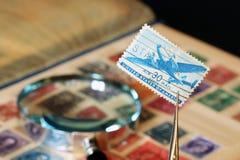 De Inzameling van de Postzegel stock afbeeldingen