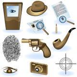 De inzameling van de privé-detective stock illustratie