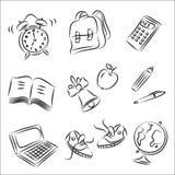 De Inzameling van de Schets van de school Stock Afbeeldingen