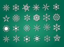 De Inzameling van de sneeuwvlok Stock Afbeeldingen
