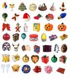 De inzameling van de vakantie clipart vector illustratie