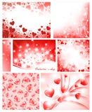 De inzameling van de valentijnskaart Stock Afbeelding