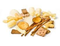 De inzameling van de voedselsnack, stock afbeeldingen