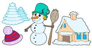De inzameling van de winter vector illustratie