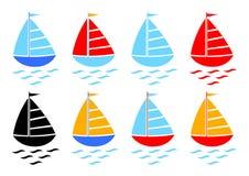 De inzameling van de zeilboot Royalty-vrije Stock Afbeelding