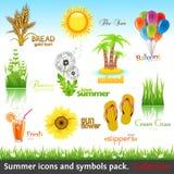 De inzameling van de zomer royalty-vrije illustratie