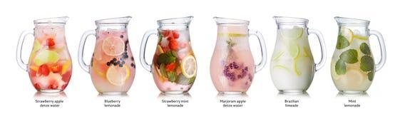 De inzameling van de zomerdranken Stock Foto