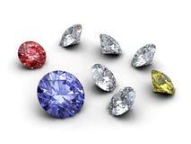 De inzameling van diamanten Royalty-vrije Stock Foto