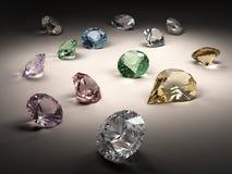 De inzameling van diamanten Stock Fotografie