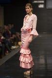 De inzameling van Dobleb showcases in Pasarela Flamenca Jerez 2015 Royalty-vrije Stock Afbeeldingen