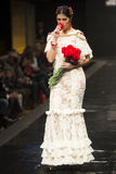 De inzameling van Dobleb showcases in Pasarela Flamenca Jerez 2015 Stock Foto's