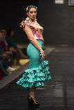 De inzameling van Dobleb showcases in Pasarela Flamenca Jerez 2015 Stock Foto