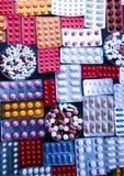 De inzameling van DrugsMedicines Stock Afbeeldingen