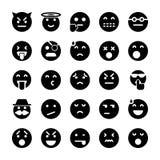 De Inzameling van Emoticonspictogrammen royalty-vrije illustratie