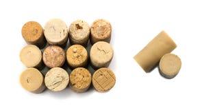De inzameling van Gebruikte Wijn kurkt Stock Foto