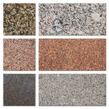 De inzameling van granietsteekproeven Stock Afbeelding