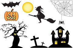 De Inzameling van Halloween Stock Afbeeldingen