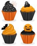 De Inzameling van Halloween Cupcakes stock illustratie