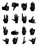 De inzameling van handen Stock Afbeeldingen