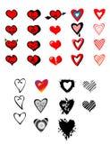 De inzameling van harten stock illustratie