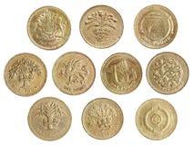 De inzameling van het één pondmuntstuk Royalty-vrije Stock Foto