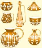 De Inzameling van het aardewerk Royalty-vrije Stock Afbeeldingen