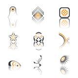 De inzameling van het embleem stock illustratie