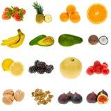 De inzameling van het fruit stock afbeeldingen
