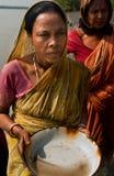 De inzameling van het garnalenzaad in Sunderban Stock Foto's