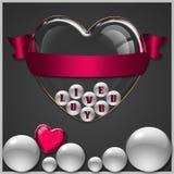 De inzameling van het hartglas Stock Foto
