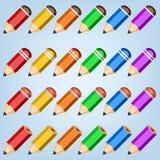 De inzameling van het kleurenpotlood Stock Foto's