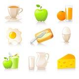 De inzameling van het ontbijt Stock Afbeelding
