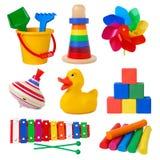 De inzameling van het speelgoed stock afbeeldingen