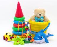 De inzameling van het speelgoed royalty-vrije stock afbeelding