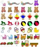 De inzameling van het speelgoed Royalty-vrije Stock Foto