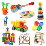 De inzameling van het speelgoed Stock Fotografie